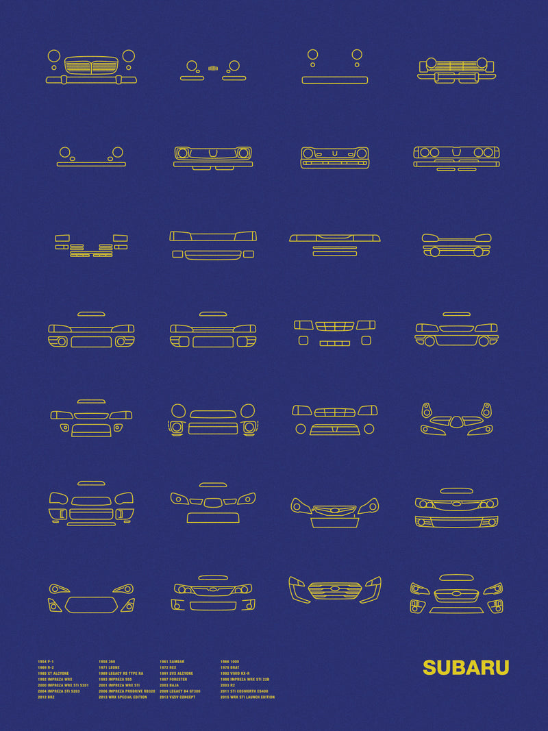 Auto Icon Screen Print Series: Subaru