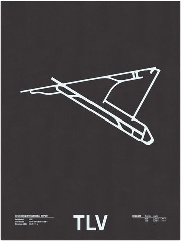 TLV: Ben Gurion International Airport Screenprint