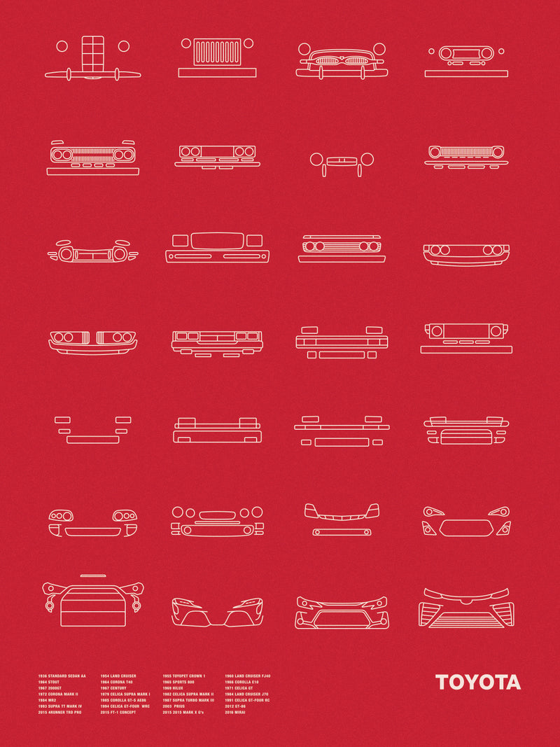 Auto Icon Screen Print Series: Toyota