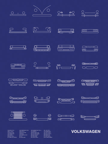 Auto Icon Screen Print Series: Volkswagen