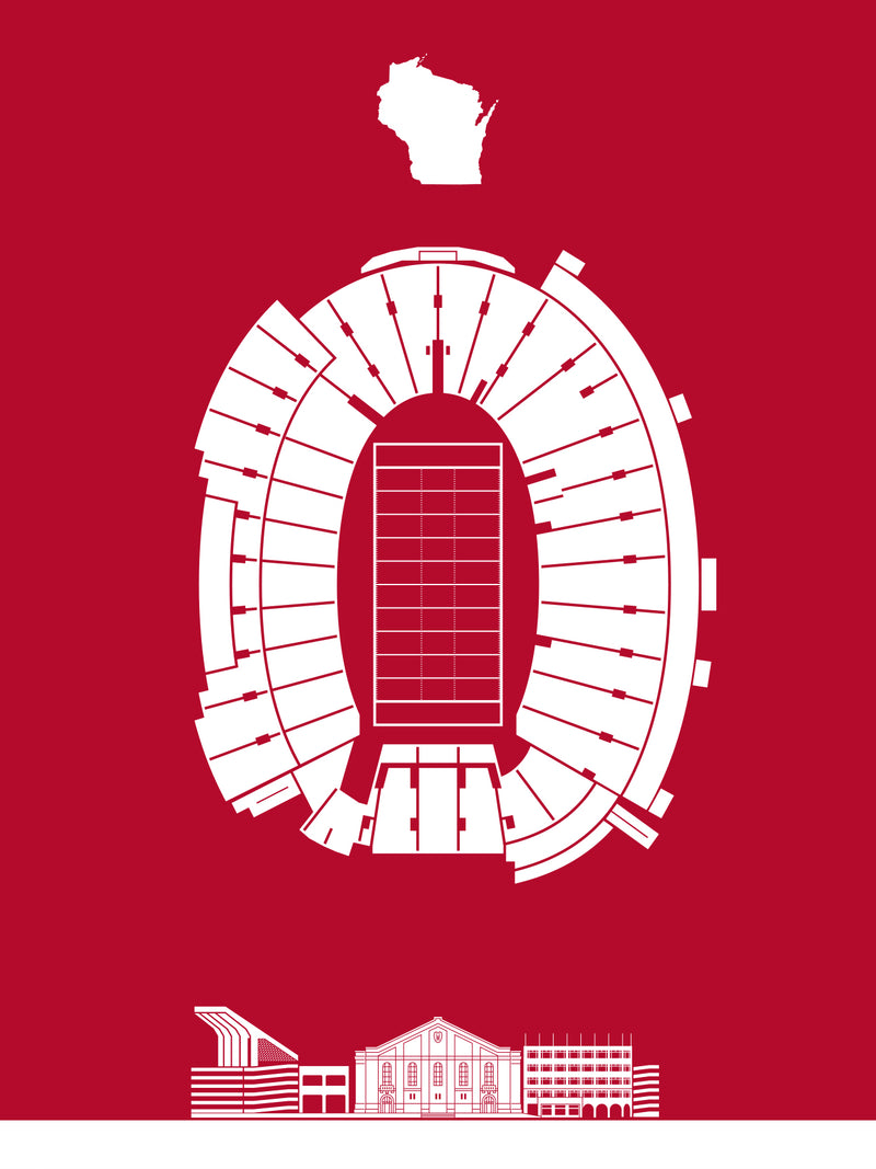 Camp Randall Stadium Screenprint