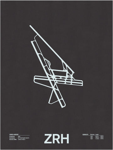 ZRH: Zurich Airport Screenprint