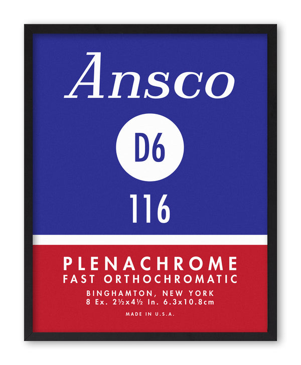 Ansco Plenachrome Vintage Photo Film Screenprint