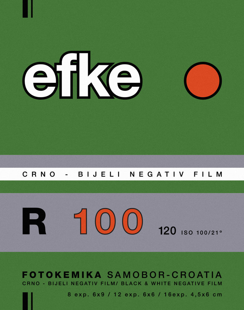 Efke R100 Vintage Photo Film Screenprint