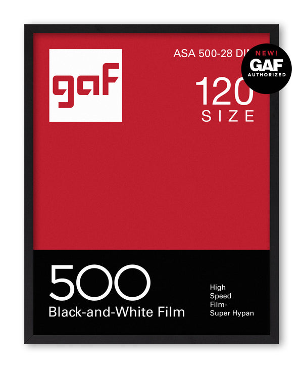 GAF 500 Vintage Photo Film Screenprint