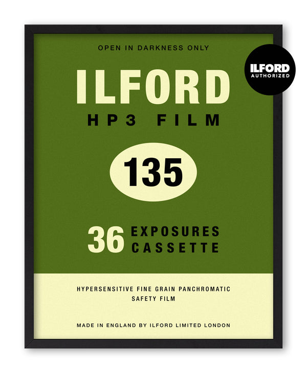 Ilford HP3 135 Vintage Film Screenprint