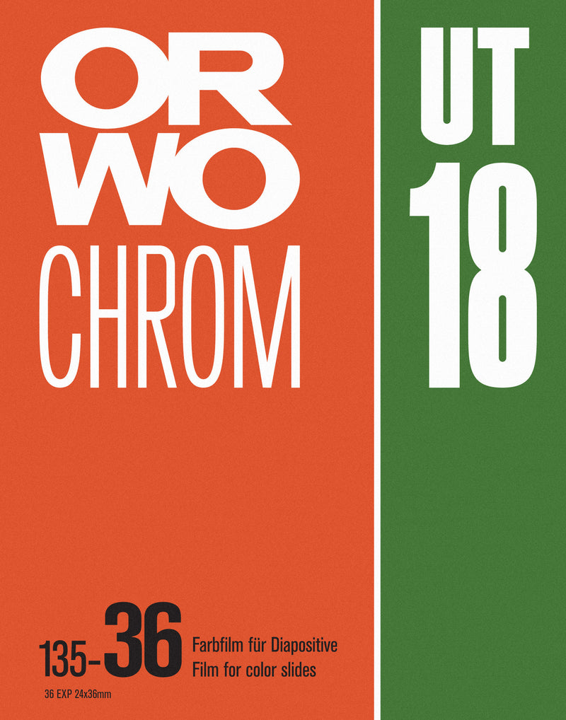 ORWO Chrom UT18 Vintage Photo Film Screenprint