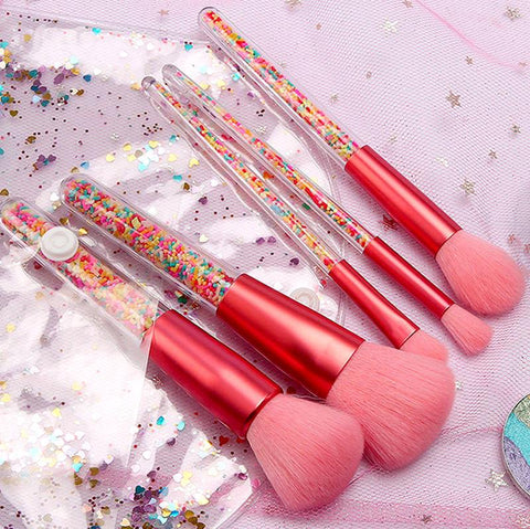 Candy Beauty Brush Set With Bag