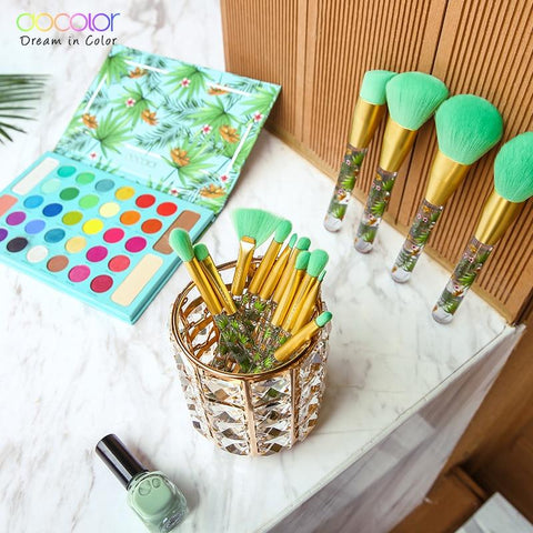Luxury Floral Brushes And Tropical Eyeshadow Colorful Palette Full Set