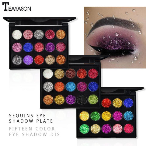 Sequin Eyeshadow  Colorful Palette