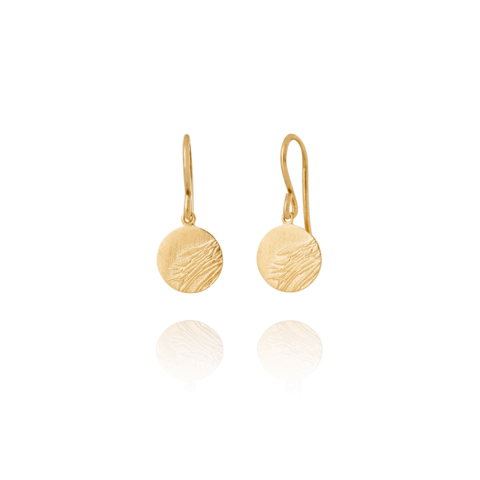 Falcon 107 gold-plated earrings