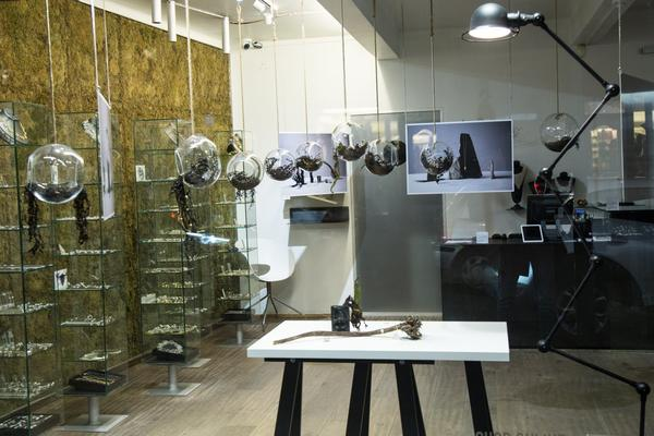 AURUM Icelandic jewelry in-store display for SAND Collection launch DesignMarch 2018