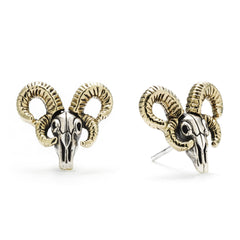 Jacob Ram Earrings - Silver Phantom Jewelry