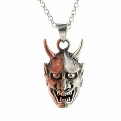 Hannya Mask Necklace - Silver Phantom Jewelry
