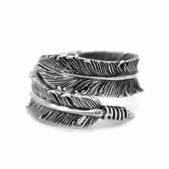 Feather Ring - Silver Phantom Jewelry