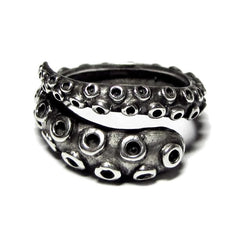 Octopus Tentacle Ring - Silver Phantom Jewelry