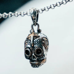 Small Calavera Skull Necklace
