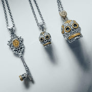 Calavera Key Necklace