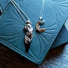 Crescent Moon & Dragon Necklace