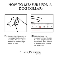 Cuban Chain Dog Collar - Silver Phantom Jewelry