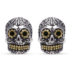 Calavera Skull Earrings - Silver Phantom Jewelry
