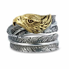 Eagle Feather Ring - Silver Phantom Jewelry