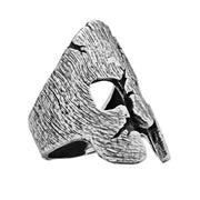 Battle Scarred Spartan Helmet Ring - Silver Phantom Jewelry