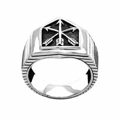 Three Arrows Ring - Silver Phantom Jewelry