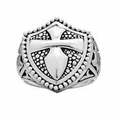 Saint James Cross Ring - Silver Phantom Jewelry
