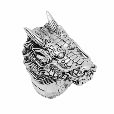 Shenlong Chinese Dragon Head Ring