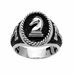 Chess Knight Ring - Silver Phantom Jewelry