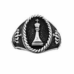 Chess King Ring - Silver Phantom Jewelry