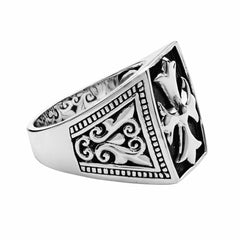 Cross Patonce Ring - Silver Phantom Jewelry