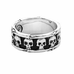 Skull and Bones Band - Silver Phantom Jewelry