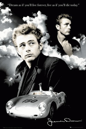 James Dean Clouds Poster