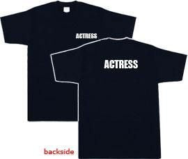 Actress T-shirt - Black