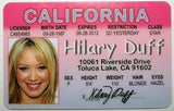 Hilary Duff Novelty Driver License
