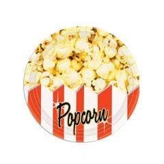 "Movie Theater Popcorn  7"" Paper Plates"