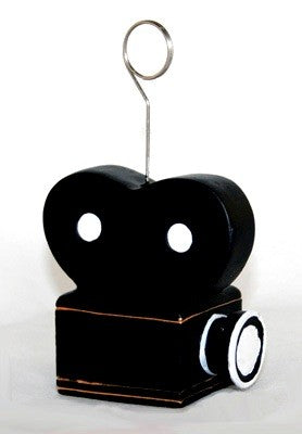Movie Camera card holder and Balloon holder weight