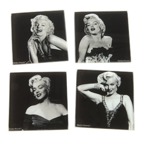 Marilyn Monroe 4 pc. Glass Coaster Set