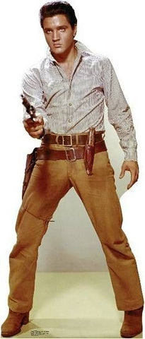 Elvis Gunfighter, Lifesize cardboard cutout #838