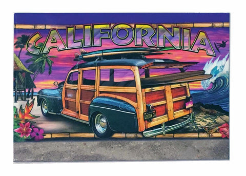 California surf Woodie Magnet