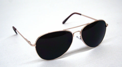 Gold Frame Aviator Style Sunglasses