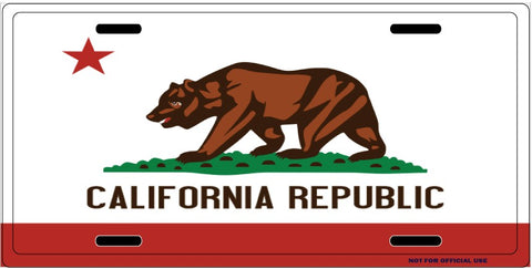 California Republic License Plate
