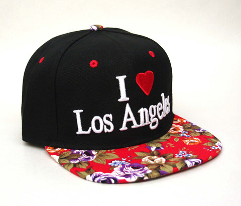 I Love Los Angeles Cap - Red