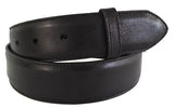 "Belt: Style #102 1.5"" Black Italian Milano Leather - AL BERES"