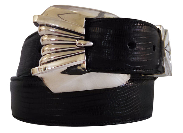 "1½"" DONATELLO 3 Piece Buckle Set in .925 Sterling Silver - AL BERES"
