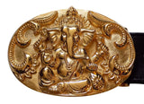 "1½"" Oval HINDU GANESHA Buckle in 18kt Gold Vermeil over .925 Sterling Silver - AL BERES"
