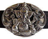 "1½"" Oval HINDU GANESHA Buckle in .925 Sterling Silver - AL BERES"
