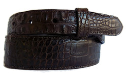 "Style #404 1.5"" to 1"" Taper Brown Hornback Alligator - AL BERES"
